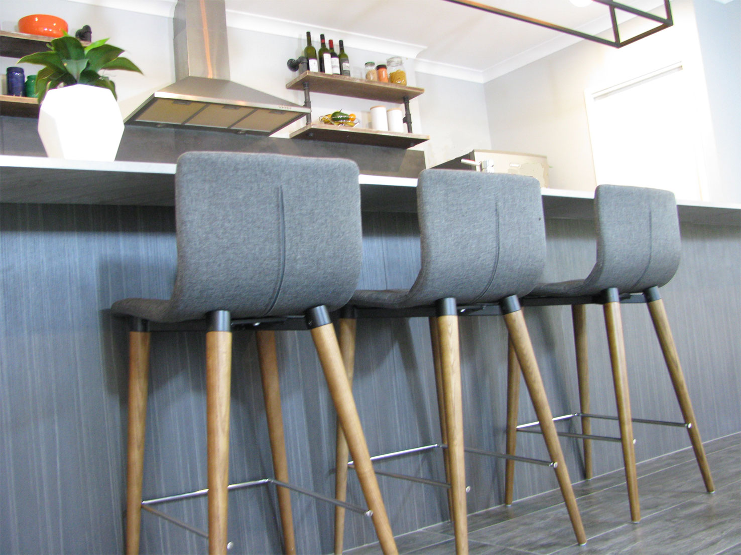 Grey Stools from Sitting Around