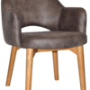 Albury arm chair timber legs
